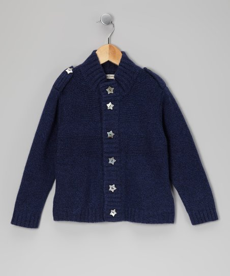 Navy Star Cashmere Cardigan - Toddler & Kids