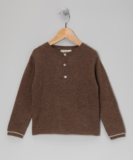 Brown Star Cashmere Henley - Toddler & Boys
