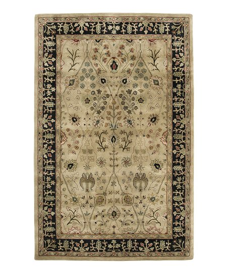 Gold &amp; Black Wool Benedict Cardinal Rug