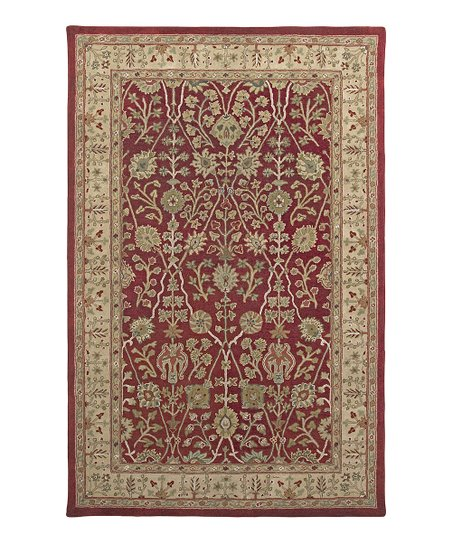 Red & Gold Wool Benedict Cardinal Rug