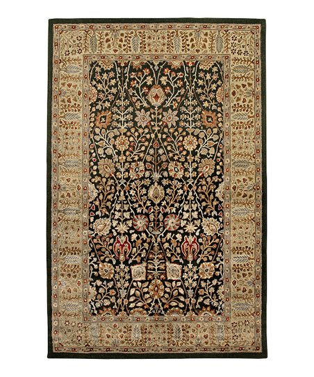 Black & Gold Wool-Blend Abhati Roshni Rug