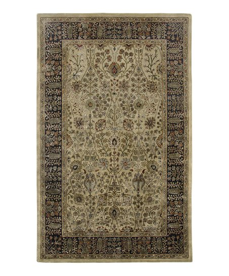 Gold & Black Wool-Blend Abhati Roshni Rug