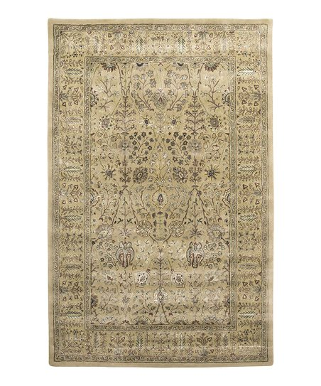 Gold Wool-Blend Abhati Roshni Rug