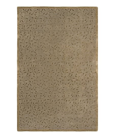 Brown Wool-Blend Josette Gardenia Rug