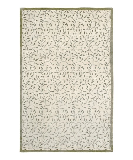 Ivory Wool-Blend Josette Gardenia Rug