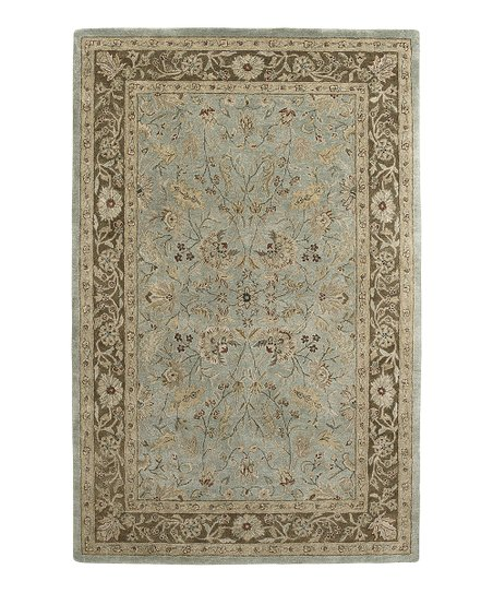 Light Blue &amp; Brown Nawa Ghazni Rug