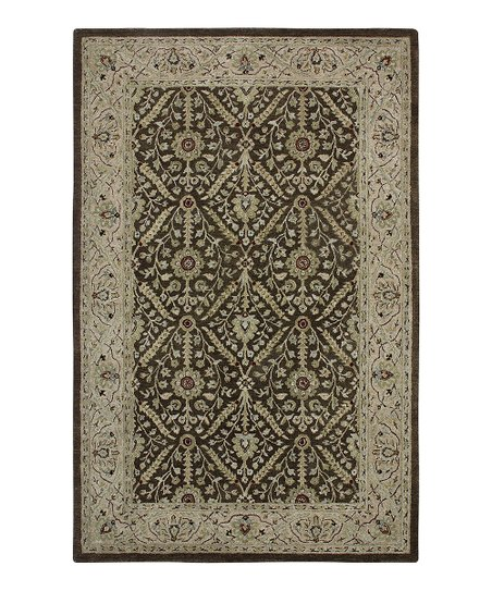 Brown &amp; Beige Jaghuri Ghazni Rug