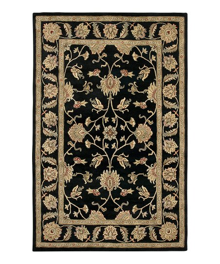 Black San Wool Giovanni Mosaic Rug