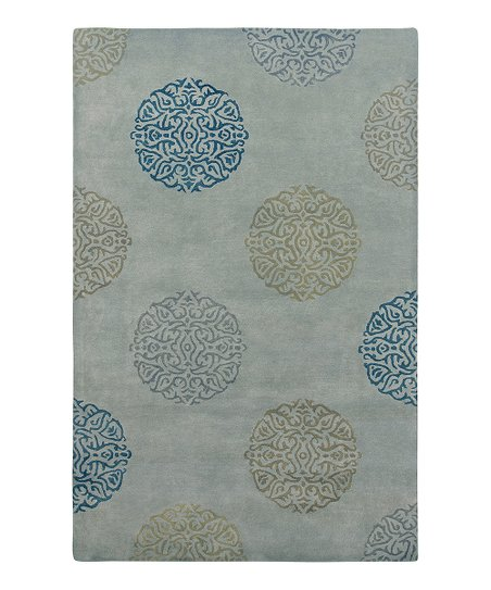 Seafoam Wool-Blend Mercer SoHo Rug