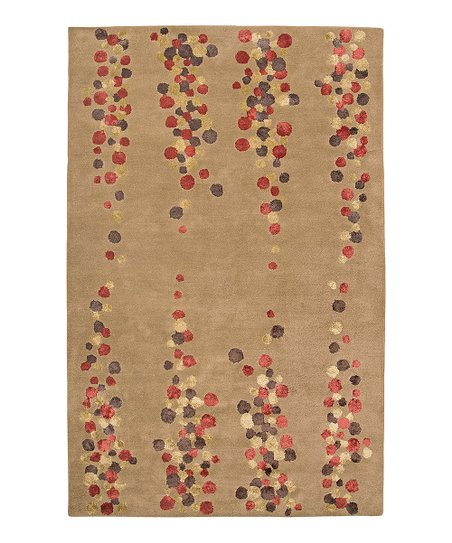 Brown Wool-Blend Pearsall Modern Rug