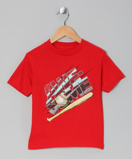 Red Baseball 'Awesome' Tee - Kids