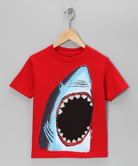 Red Shark Tee - Toddler & Kids