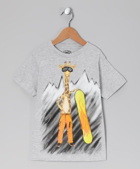 Gray Cool Giraffe Tee - Toddler & Kids