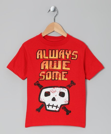 Red Skull 'Always Awesome' Tee - Toddler & Kids
