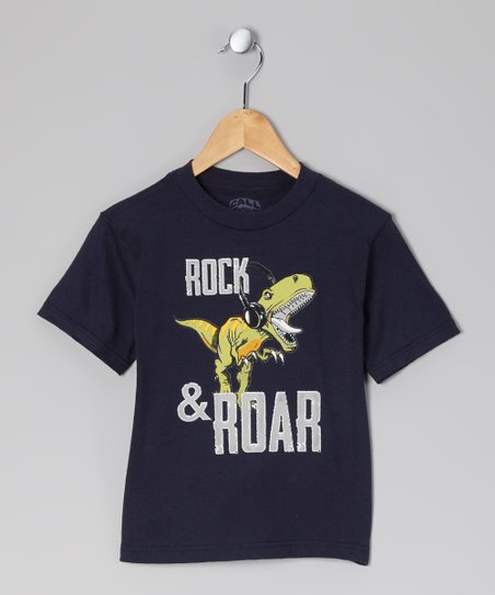 Navy 'Rock & Roar' Tee - Toddler & Kids