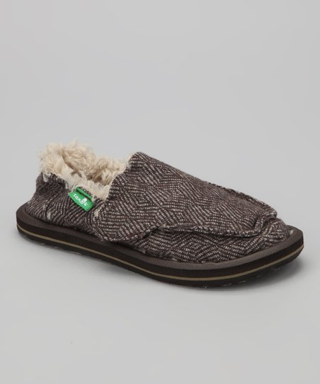 Brown Checkabone Chill Slip-On Shoe - Kids