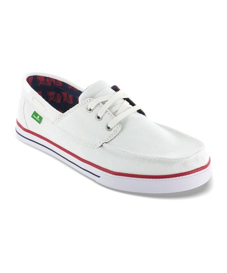 White Shipwrecked Boat Shoe - Men