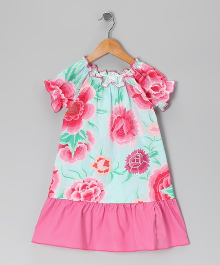 Pink Floral Dress - Infant, Toddler & Girls