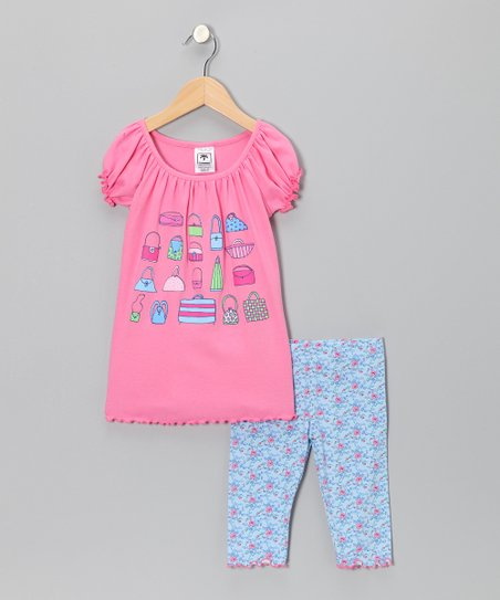Raspberry Purse Top & Capri Leggings - Infant, Toddler & Girls