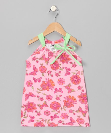 Pink Butterfly Swing Dress - Infant, Toddler & Girls
