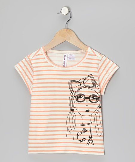 Tropical Punch Stripe 'Paris' Tee - Girls