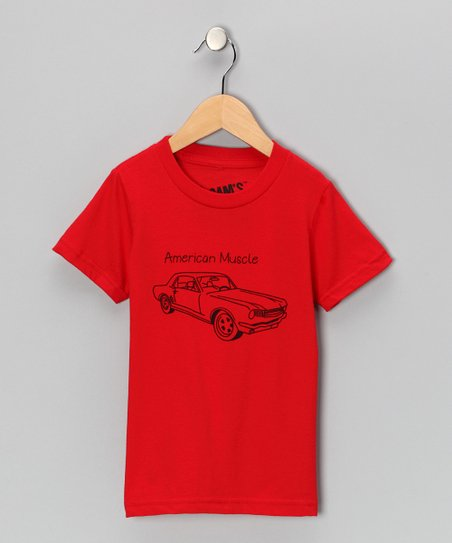 Red 'American Muscle' Tee - Toddler & Boys