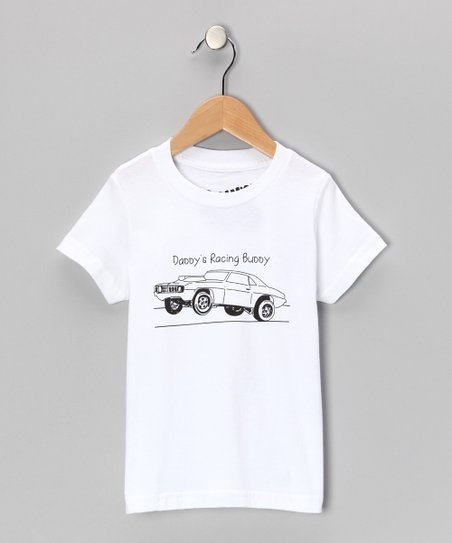 White &#039;Daddy&#039;s Racing Buddy&#039; Tee - Toddler &amp; Boys