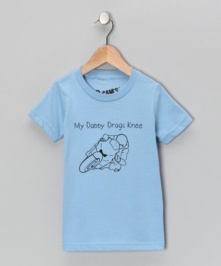 Blue 'Daddy Drags Knee' Tee - Toddler & Boys