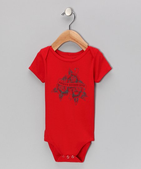 Red &#039;Daddy&#039;s Tattoos Rock&#039; Bodysuit - Infant
