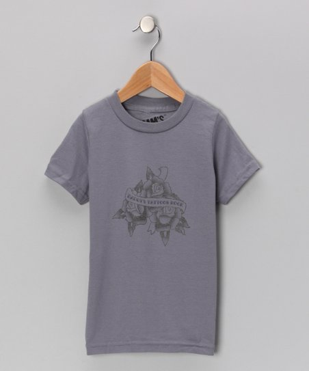 Slate Gray 'Daddy's Tattoos Rock' Tee - Toddler & Boys