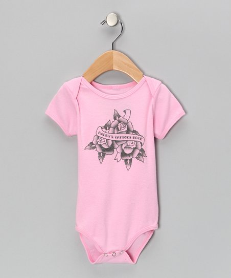 Pink 'Daddy's Tattoos Rock' Bodysuit - Infant