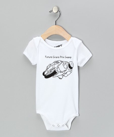 White 'Future Grand Prix Champ' Bodysuit - Infant