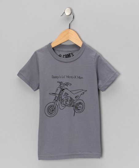 Slate Gray Motocross Man Tee - Toddler & Boys