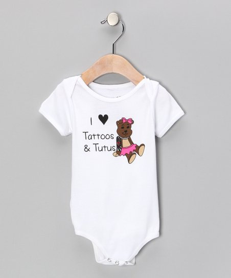 White 'Tattoos & Tutus' Bodysuit - Infant