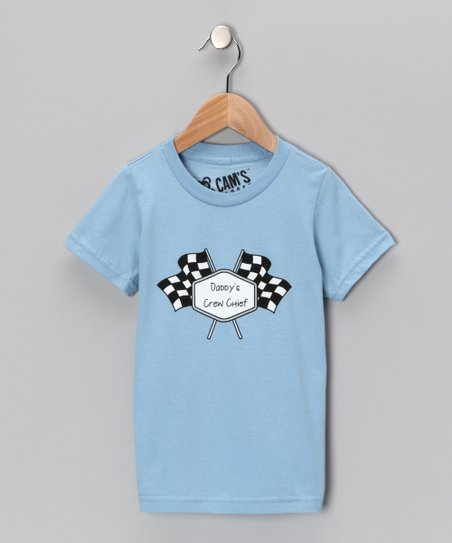 Blue 'Daddy's Crew Chief' Tee - Toddler & Boys