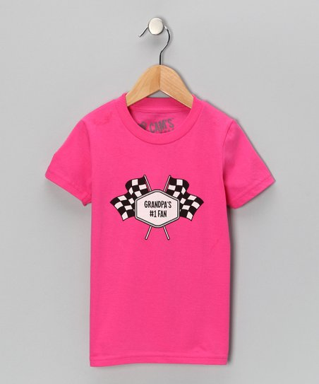 Pink &#039;Grandpa&#039;s No. 1 Fan&#039; Tee - Toddler &amp; Girls