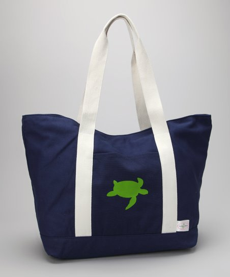 Navy Turtle Beach Tote