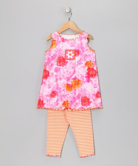 Pink Floral Swing Top & Capri Leggings - Toddler & Girls