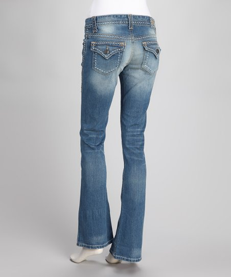 Indigo Jacey Stretch Flare Jeans