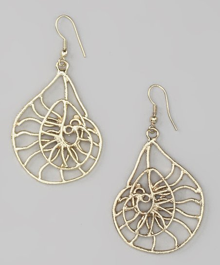 Gold Filigree Fibonacci Earrings