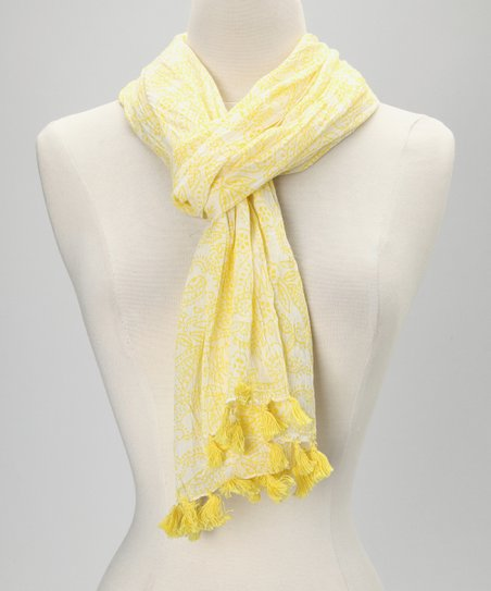 Yellow Tassel Scarf