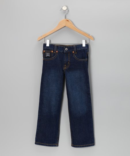 Black Label Indigo Wash Jeans - Boys
