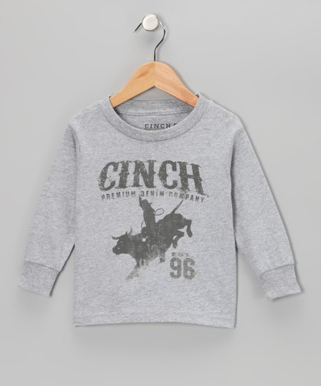 Heather Gray 'Cinch' Rodeo Tee - Toddler & Boys