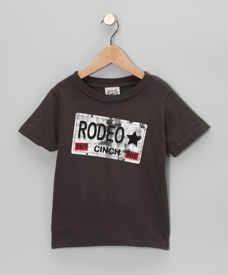 Charcoal 'Rodeo' Tee - Toddler