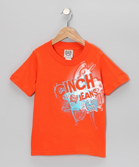 Orange 'Cinch Jeans' Tee - Boys