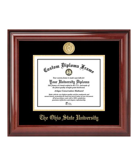 Ohio State Buckeyes Gold Seal Mahogany Diploma Frame