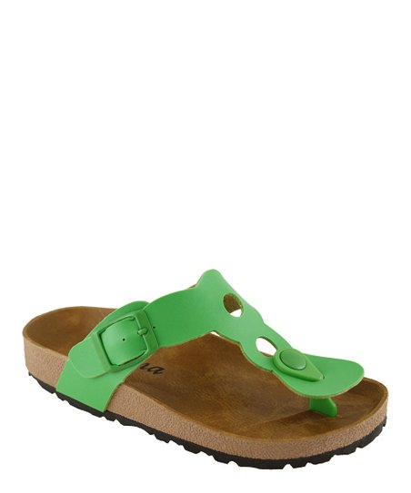 Green Cutout Sandal