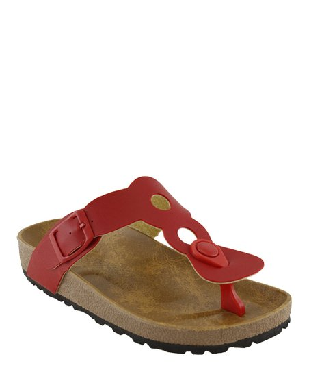 Red Cutout Sandal