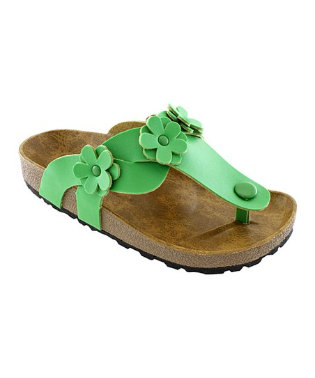 Green Flower Sandal