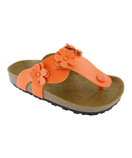 Orange Flower Sandal